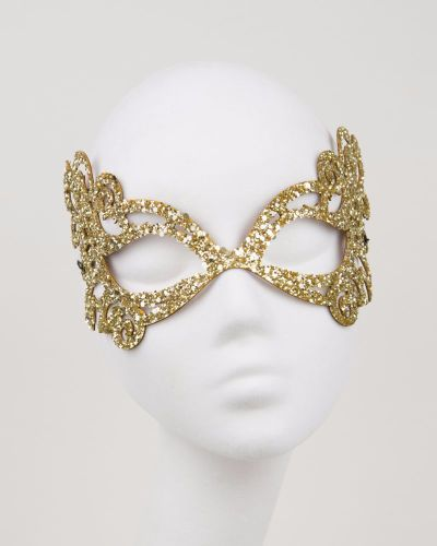 Glitter Mask in Gold