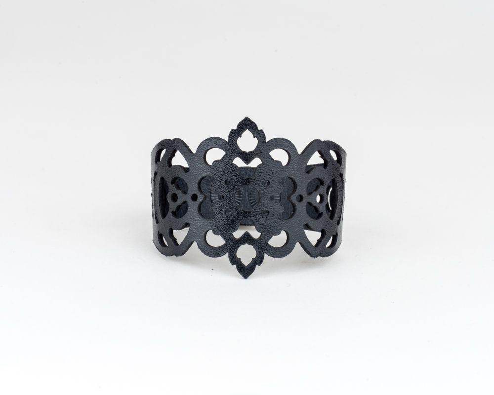 Laser Cut Leather Bracelet -