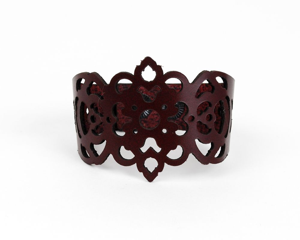 Laser Cut Leather Bracelet