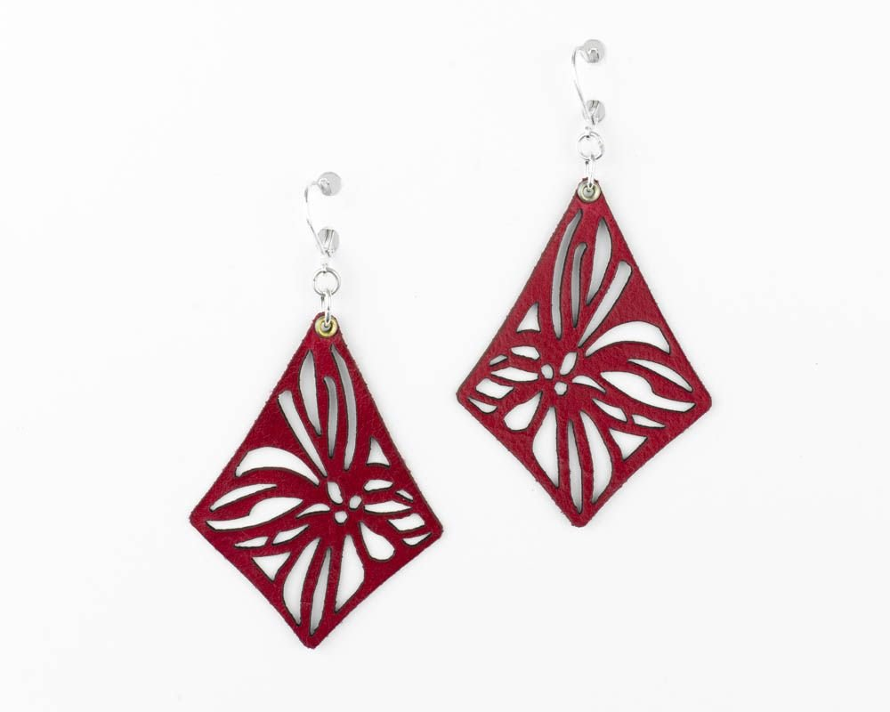 Laser cut leather Earrings