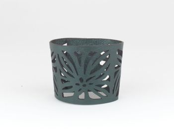 "Laser Cut Leather Cuff • ""Elsa"" Design"