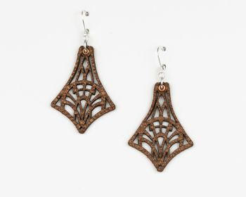 "Laser Cut Leather Earrings ""Isadora"" Design"