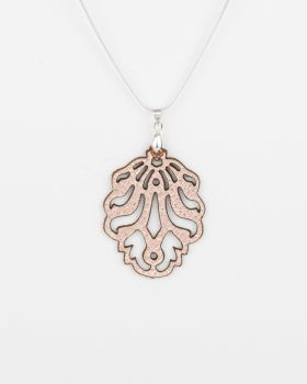 "Leather Laser Cut Pendant ""Falling Leaves"" Design"