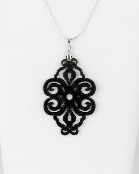 "Laser Cut Leather Pendant ""Spirals"" Design"