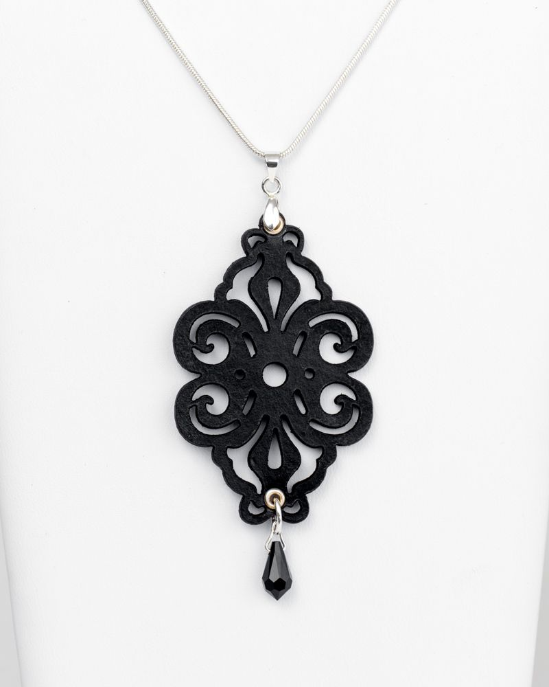 Black  Leather Pendant