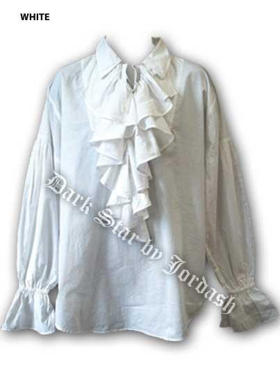 Men's ruffled Cotton shirt DS/SH/3 White Free size