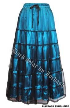 Dark Star by Jordash Floor length teired Skirt DS/SK/5152 Turqoise