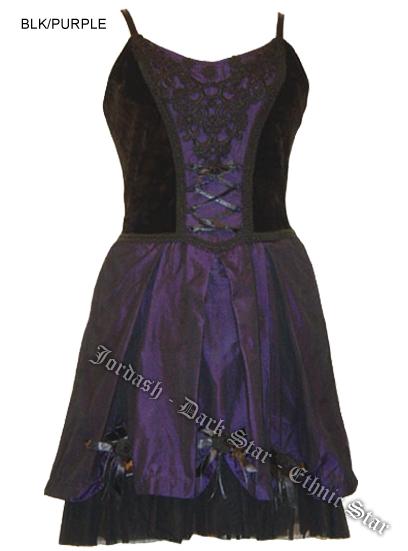 Dark Star by Jordash Short Dress Black/purple Free size