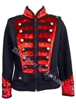 Dark Star by Jordash Military Style jacket Black/red DS/JK/7374 M