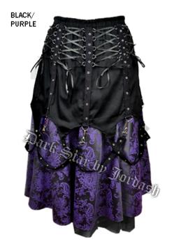 Dark Star by Jordash Long skirt DS/DK/7032 Black/purple