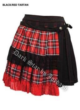 Dark Star by Jordash Goth Tartan Mini pleated skirt DS/SK/51142
