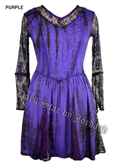 Jordash Stretch Cotton blouse/short dress JD/BL/8312 Black/purple M/L