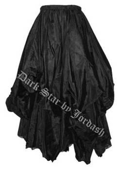 Dark Star by Jordash ruched floor length skirt DS/SK/5907 Black