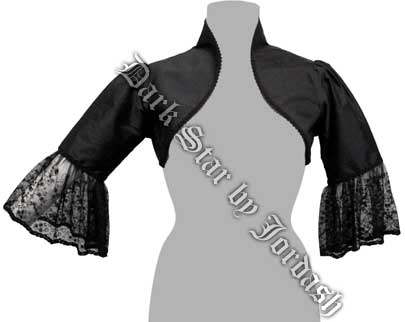 Dark Star by Jordash Bolero style jacket DS/JK/5547 available in black and