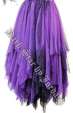 Dark Star by Jordash long Skirt DS/SK/5607 available black or black/purple