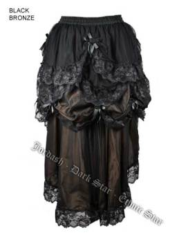 Dark Star by Jordash Steampunk Three Layer Skirt DS/SK/7238 Black/Bronze