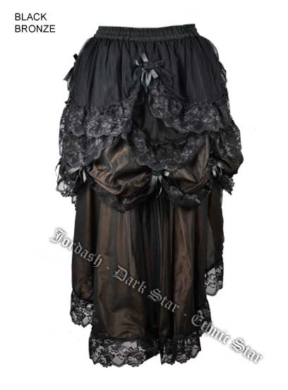 Dark Star by Jordash Steampunk Three Layer Skirt DS/SK/7238 Black/Bronze