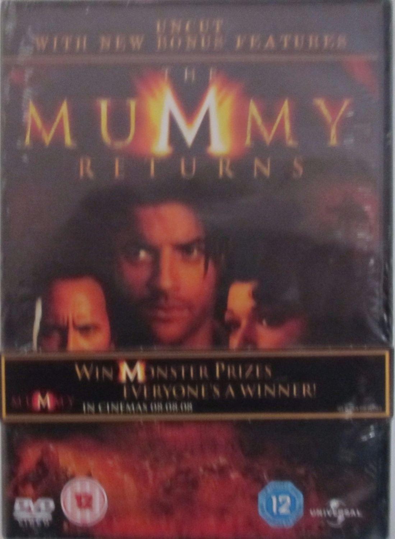 The Mummy Returns  (Uncut With Bonus Features)  2001 DVD Region 2,4