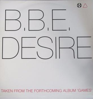 """B,B,E,    Desire           12"""" Promo Vinyl Single"""