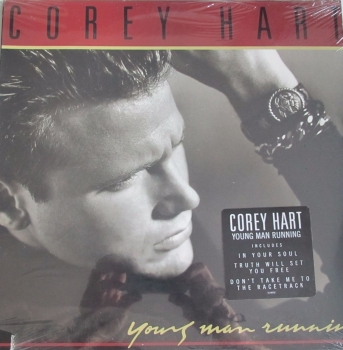 Corey Heart     Young Man Running   1988 U.S.A Import Vinyl LP