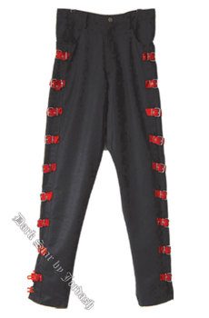 "Dark Star by Jordash Mens trousers with red buckles 38"" waist DS/TR/5230"