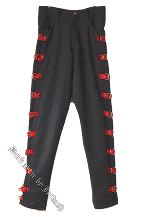 Dark Star by Jordash Mens trousers with red buckles 38