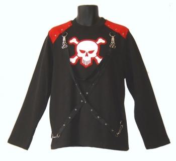 Dark Star by Jordash long sleeve t-shirt Black/red DS/TS/5620