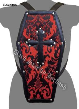 Dark Star PVC coffin shaped back pack Black/Red DS/BG/7519