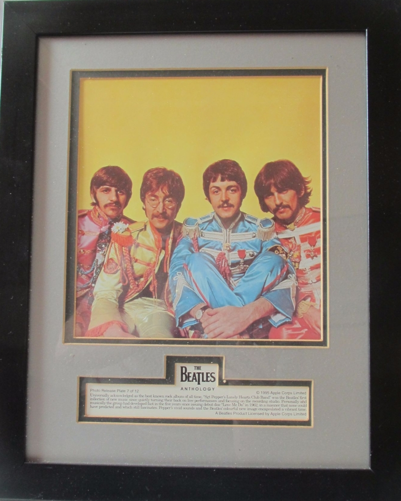 Beatles  Framed Anthology Colour  Photo Apple Corps Release
