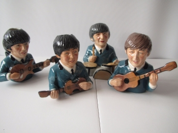 Beatles   Four 1963 Limited Edition Jugs Bairstow Manor Co Set No 240