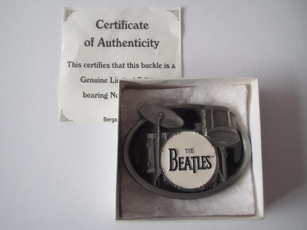 Beatles  The Beatle Drum Buckle Ltd Ed No 585 Boxed