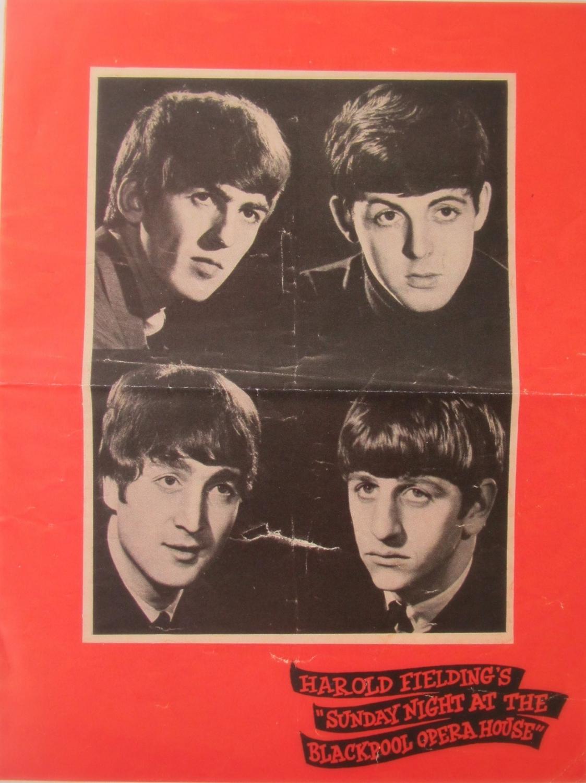 Beatles  The Beatles Blackpool Opera House Flyer ( Reproduction)