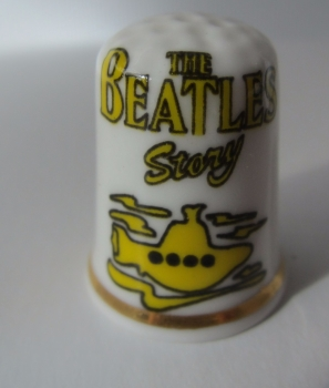 Beatles  Birchcroft china Thimble The Beatles Yellow Submarine