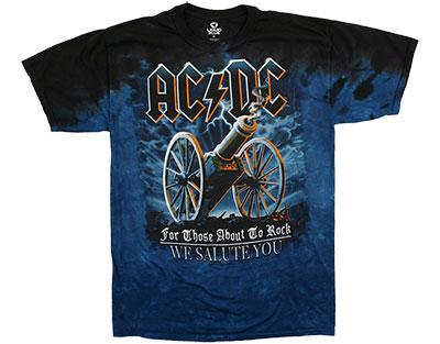 AC/DC 21 Gun Salute Tie Dye T-Shirt