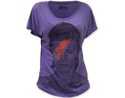 David Bowie Aladdin Skinny T-Shirt Purple