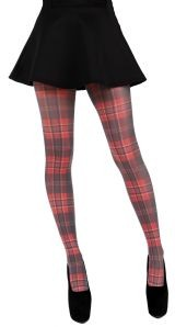 Pamela Mann Red and Green Tartan printed tights
