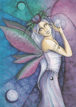 Tree Free Greetings card fairy with decorative envelope