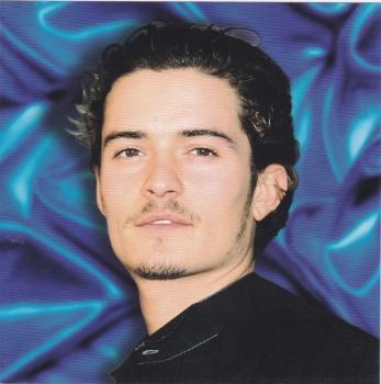 Hollywood Icons - Orlando Bloom greetings card