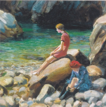 On the Rocks Roland Wheelwright - Icon greetings card