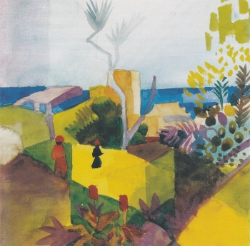 Landscape by the sea August Macke - Icon greetings card