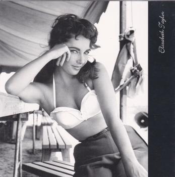 Hollywood Icons - Elizabeth Taylor greetings card