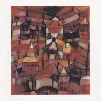 Rose Garden Paul Klee - Icon greetings card