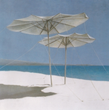 Umbrellas Lincoln Seligman - Icon greetings card