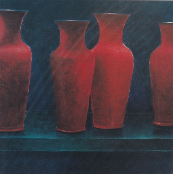 Red Vases Lincoln Seligman - Icon greetings card
