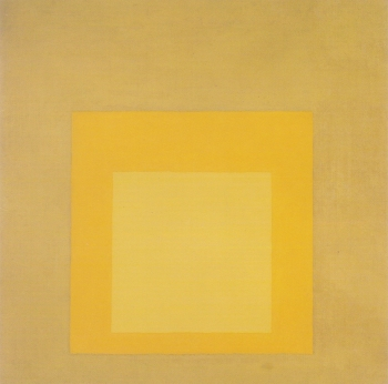 Yellow Climate: Homage to the square Josef Albers - Icon greetings card