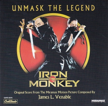Iron Monkey Original  Soundtrack From The Miramax Motion Picture  James l.Venable  2001 CD