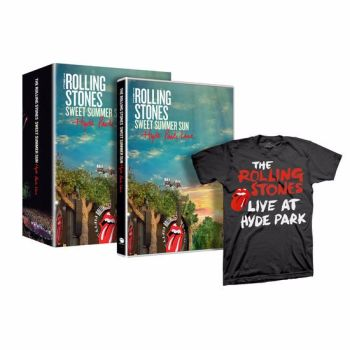 Rolling Stones  Sweet Summer Sun  Hyde Park Live Exclusive Edition DVD & T.Shirt Set