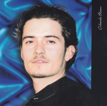 Hollywood Icons -  Orlando Bloom  greeting Card With Bookmark