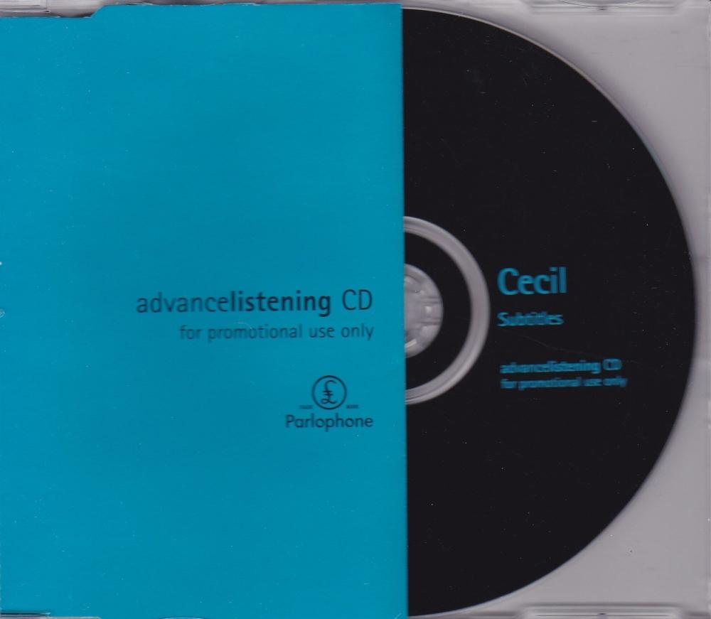 Cecil          Subtitles        Advance Listening Promotional  1998 CD