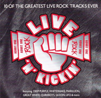Live 'N' Kickin  Sampler    Various Artists 10 Of The greatest Live Rock Tracks Ever     1994 CD